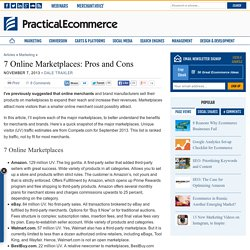 7 Online Marketplaces: Pros and Cons