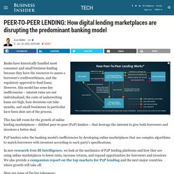 PEER-TO-PEER LENDING: How digital lending marketplaces are disrupting the predominant banking model - Business Insider