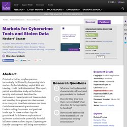 Markets for Cybercrime Tools and Stolen Data: Hackers' Bazaar