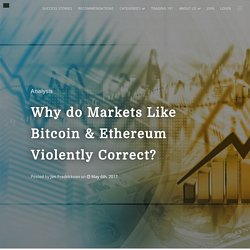 Why do Markets Like Bitcoin & Ethereum Violently Correct?