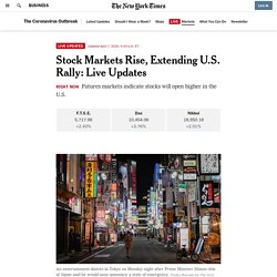 Asian Markets Rise After Bigger Gains in U.S.: Live Updates - Latest Covid 19 Corona Virus News, Corona Updates and Deals