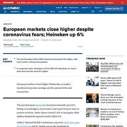 Europe markets: Investors monitor coronavirus updates