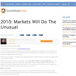 Social Media Today | 2010: Markets Will Do The Unusual