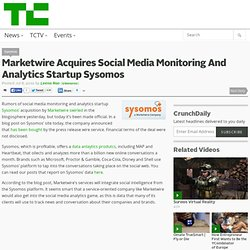 Marketwire Acquires Social Media Monitoring And Analytics Startu