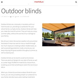 Best Quality Pergola Blinds and Shutters