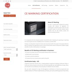 CE Marking Certification France