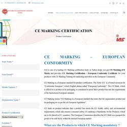 CE Marking Product Certification in Turkey