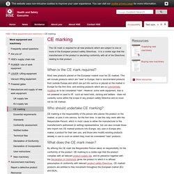 CE marking - Work equipment and machinery