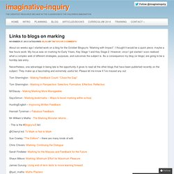 Links to blogs on marking