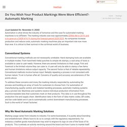 Do you wish your product markings were more efficient?- Automatic Marking