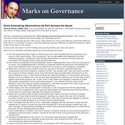 Marks on Governance