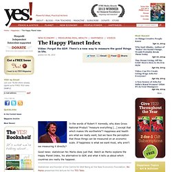 Nic Marks: What is the Happy Planet Index?