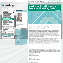 Marktstudie: »Business Process Modeling 2010«