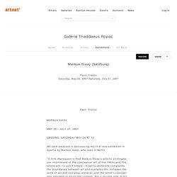 Markus Sixay Salzburg on artnet
