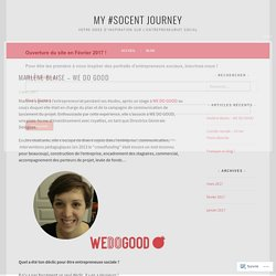 Marlène Blaise – WE DO GOOD – My #SOCENT JOURNEY