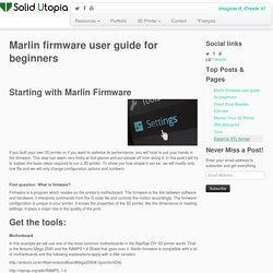 Marlin firmware user guide for beginners