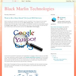 Black Marlin Technologies: Want to Be a Step Ahead? Go Local SEO Services