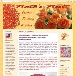 Jam Pot Covers - Free Crochet Pattern / Marmeladenhäubchen - Kostenlose Häkelanleitung