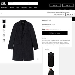 Marni Coat in Black for Men
