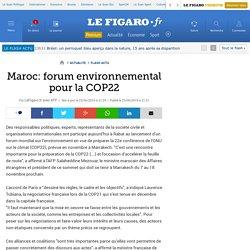 Maroc: forum environnemental pour la COP22