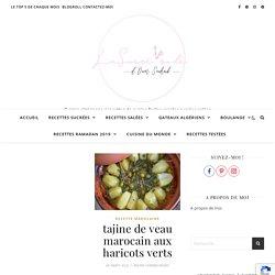 Tajine de veau marocain aux haricots verts