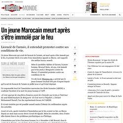 Un jeune Marocain meurt après s'être immolépar le feu