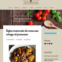 Tajine marocain de veau aux coings et pruneaux
