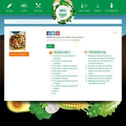 Salade marocaine aux carottes et pois chiches