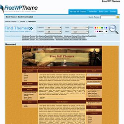 Free wordpress theme - PrimePress