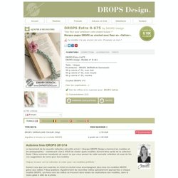 Marque-pages DROPS au crochet avec fleur en «Safran»