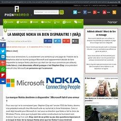 La marque Nokia va disparaitre, c'est officiel ! (MàJ)