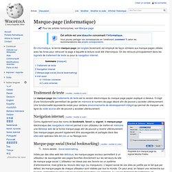 Marque-page (informatique)