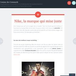 Nike, la marque qui mise juste
