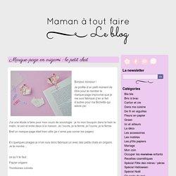 Marque-page en origami : les petits chats - Maman à tout faire