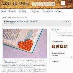 DIY Marque page en forme de coeur - Moi Je Fais