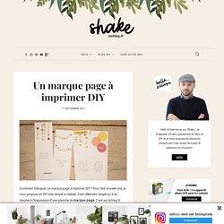 Un marque page à imprimer DIY