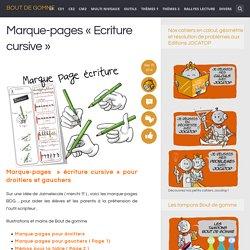Marque-pages «Ecriture cursive»