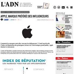Apple, marque préférée des influenceurs