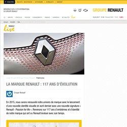 La marque Renault :117 ans d'évolution