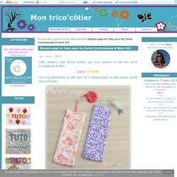 Marque-page en tissu pour les Serial Crocheteuses & More 263 - Mon trico'côtier