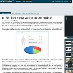 """Le """"fan"""" d'une marque vaudrait 136 $ sur Facebook - PC INpact"""