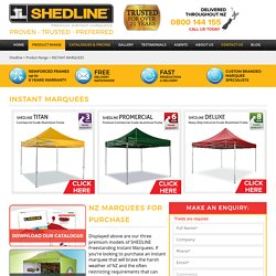 instant marquees- Shedline Instant Marquee