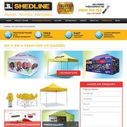 3x6m pop up gazebo, 6m x 3m pop up gazebo- Shedline Instant Marquee