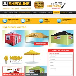 Gazebo warehouse, warehouse gazebo - Shedline Instant Marquee