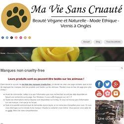 Marques non cruelty-free
