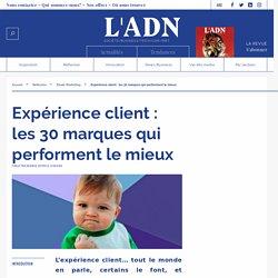 marques valeur expérience client - classement marque expérience client