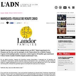 Marques: feuille de route 2013 - ETUDE