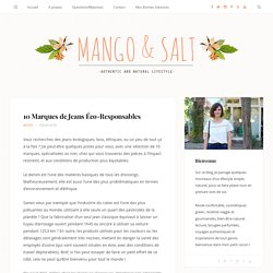 10 Marques de Jeans Éco-Responsables - Mango and Salt