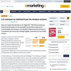 Les marques ne maîtrisent pas les réseaux sociaux