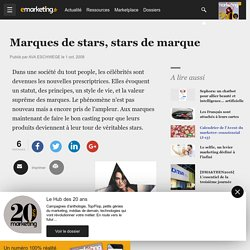 Marques de stars, stars de marque